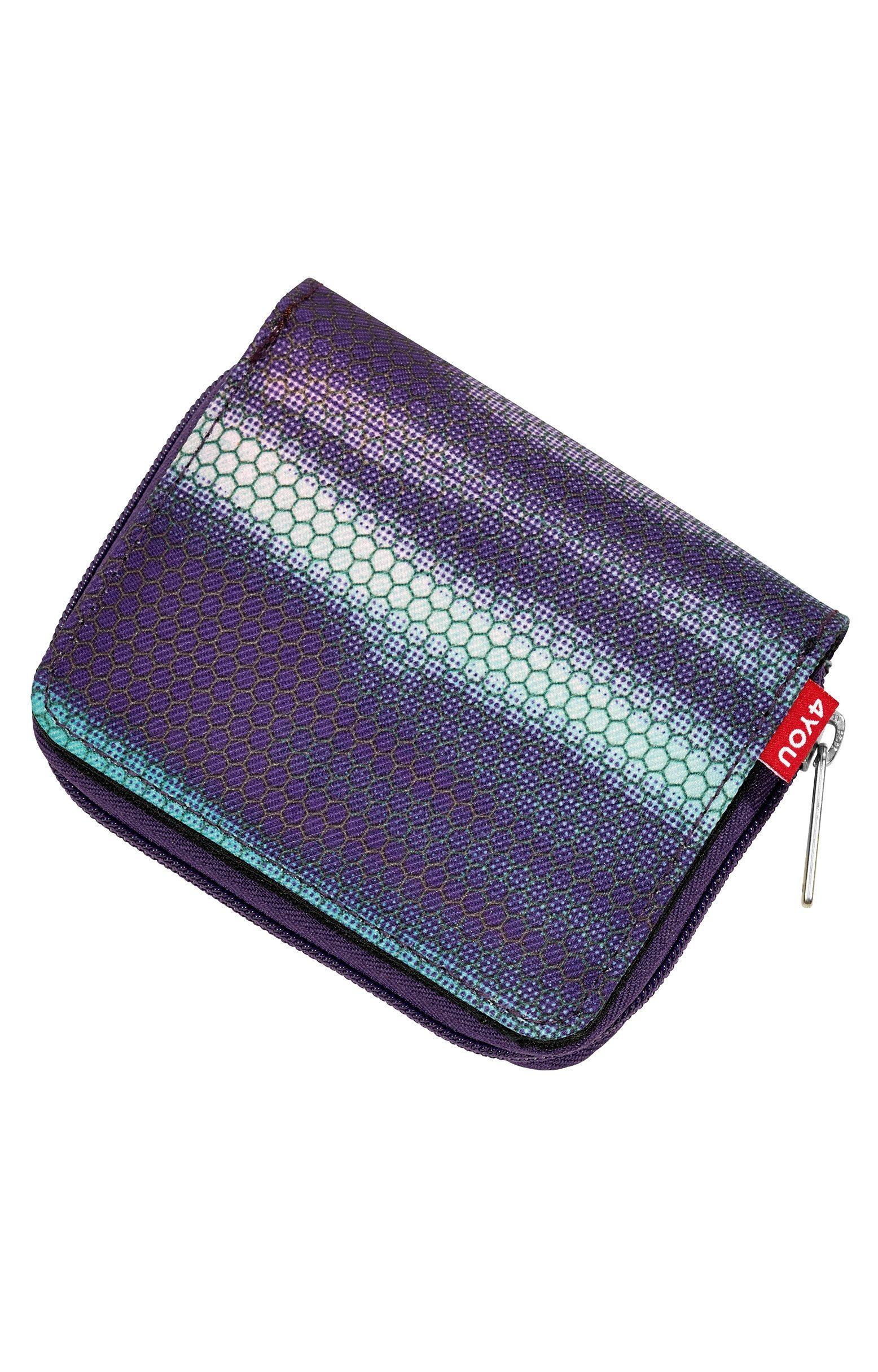 4YOU Geldbörse mit Reißverschluss, Shades Purple, »Zipper Wallet«