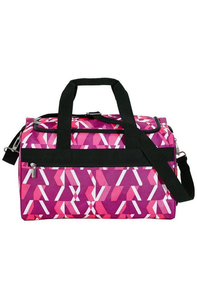 4YOU Feizeittasche Chequer Pink, »Sporttasche M« in bee ornament