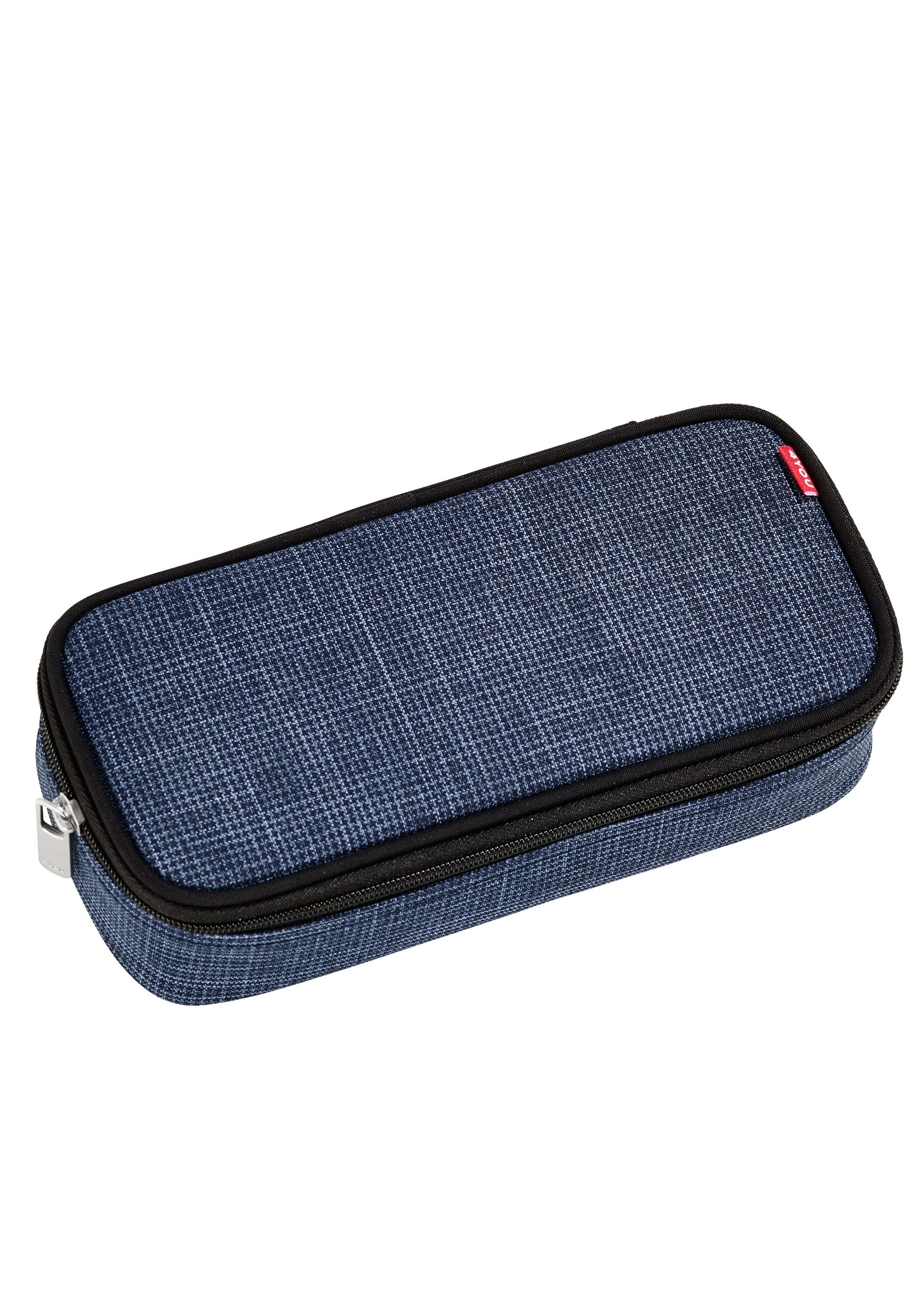 4YOU Mäppchen mit Geodreieck®, Pixel Blue, »Pencil Case«