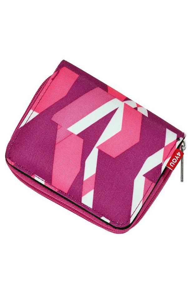 4YOU Geldbörse mit Reißveschluss Zipper Wallet, »Chequer Pink« in chequer pink