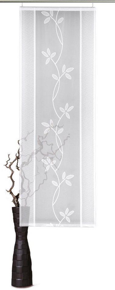 Schiebegardine, VHG, »Fiore« (1 Stück mit Zubehör) in weiß