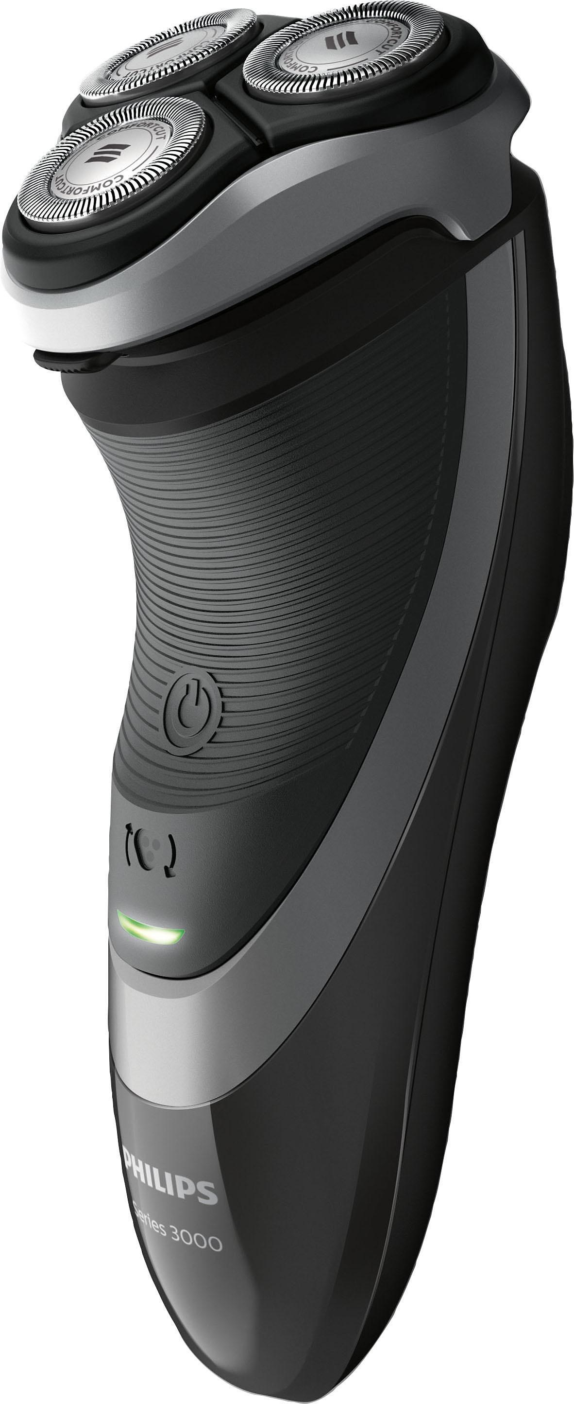Philips Rasierer Series 3000 S3510/06, Akku/Netz, KomfortCut, schwarz-silber