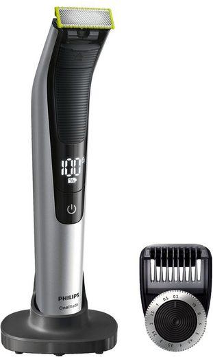 Philips Elektrorasierer OneBlade Pro QP6520/30, Aufsätze: 1, SmartClick-Präzisionstrimmer, Trimmen, Stylen und Rasieren jeder Bartlänge