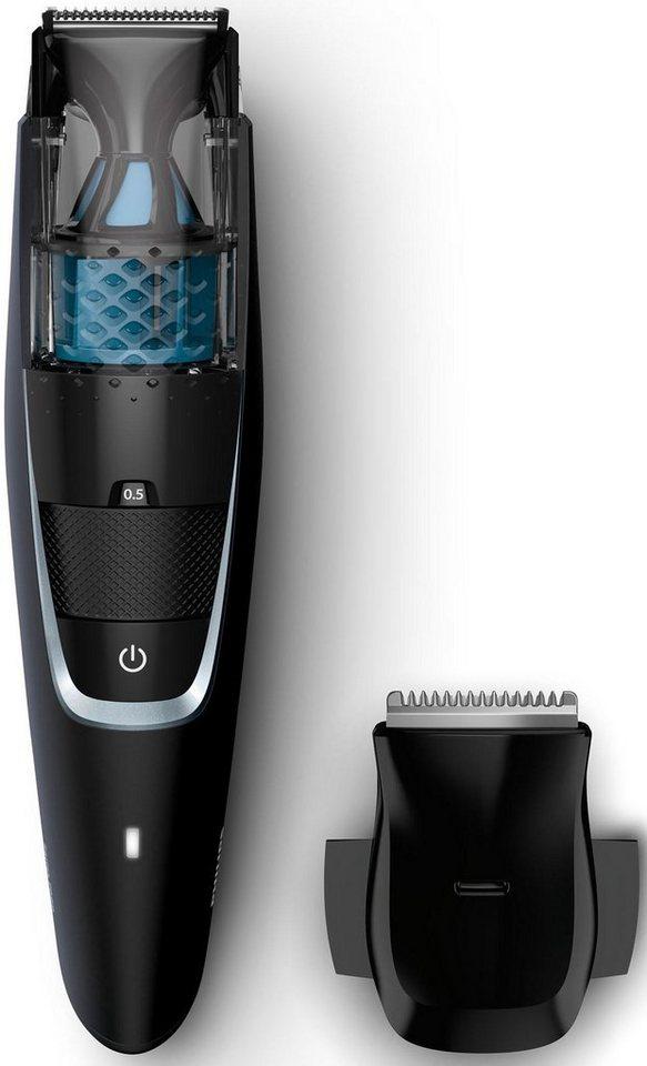 Philips Bartschneider BT7201/15, Series 7000 Vakuum-Technologie, schwarz in schwarz/blau