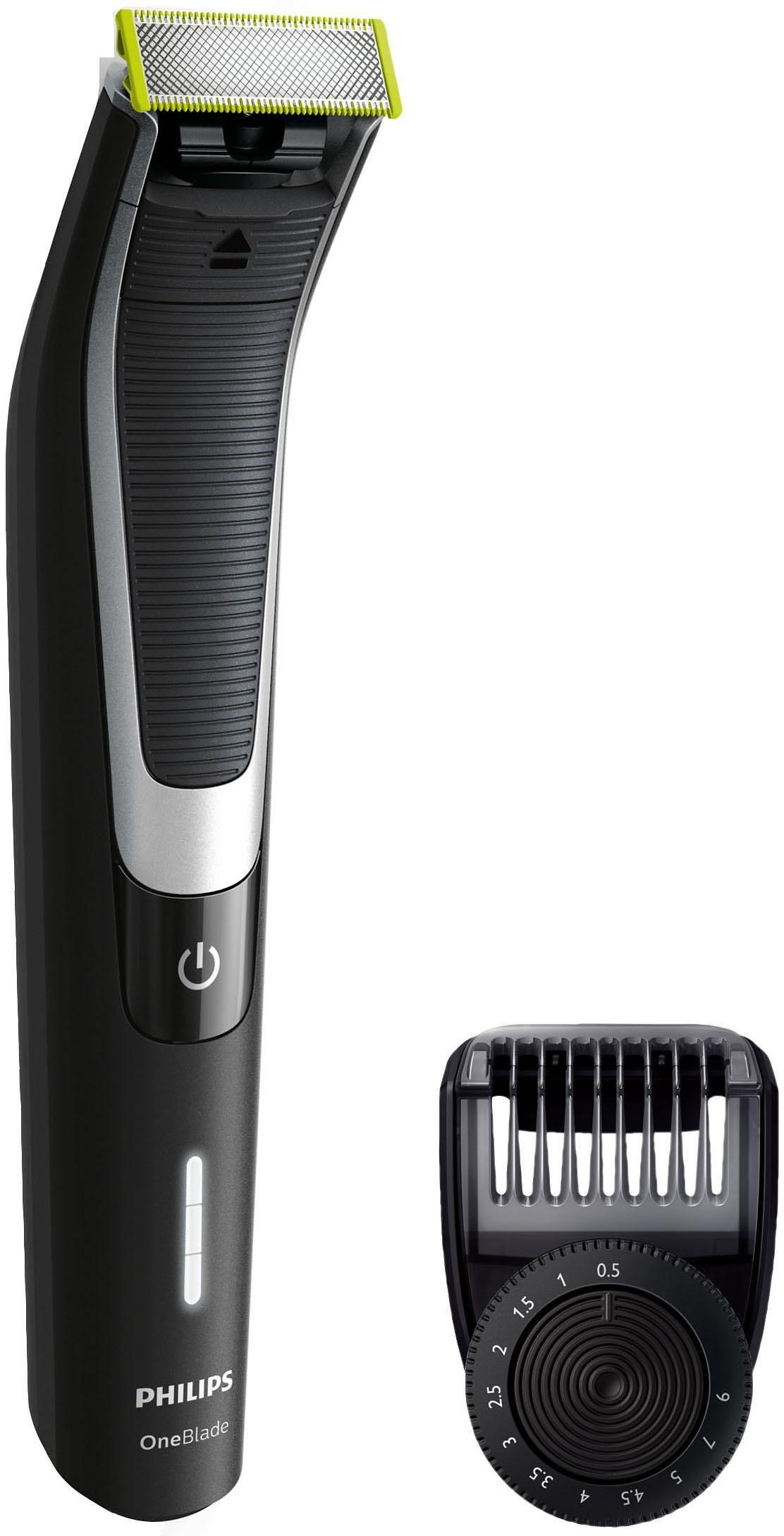 Philips Herrenrasierer OneBlade Pro QP6510/30 , Akku, Wet&Dry, Präzisions-Trimmer