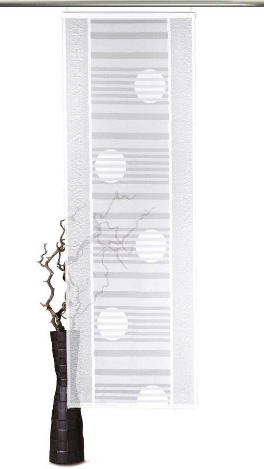 Schiebegardine, VHG, »Sunna«, mit Klettband (1 Stück mit Zubehör) in weiß