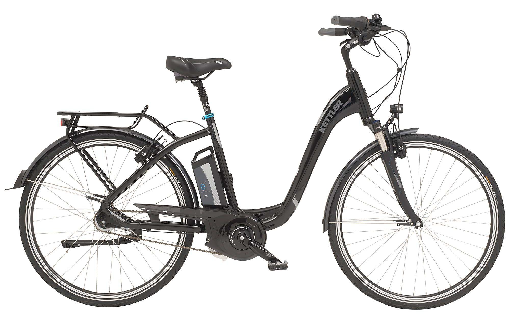 Kettler E-City-Bike, Damen, 26-Zoll, 7 Gang Shimano, Freilauf, 12 Ah, »Twin«