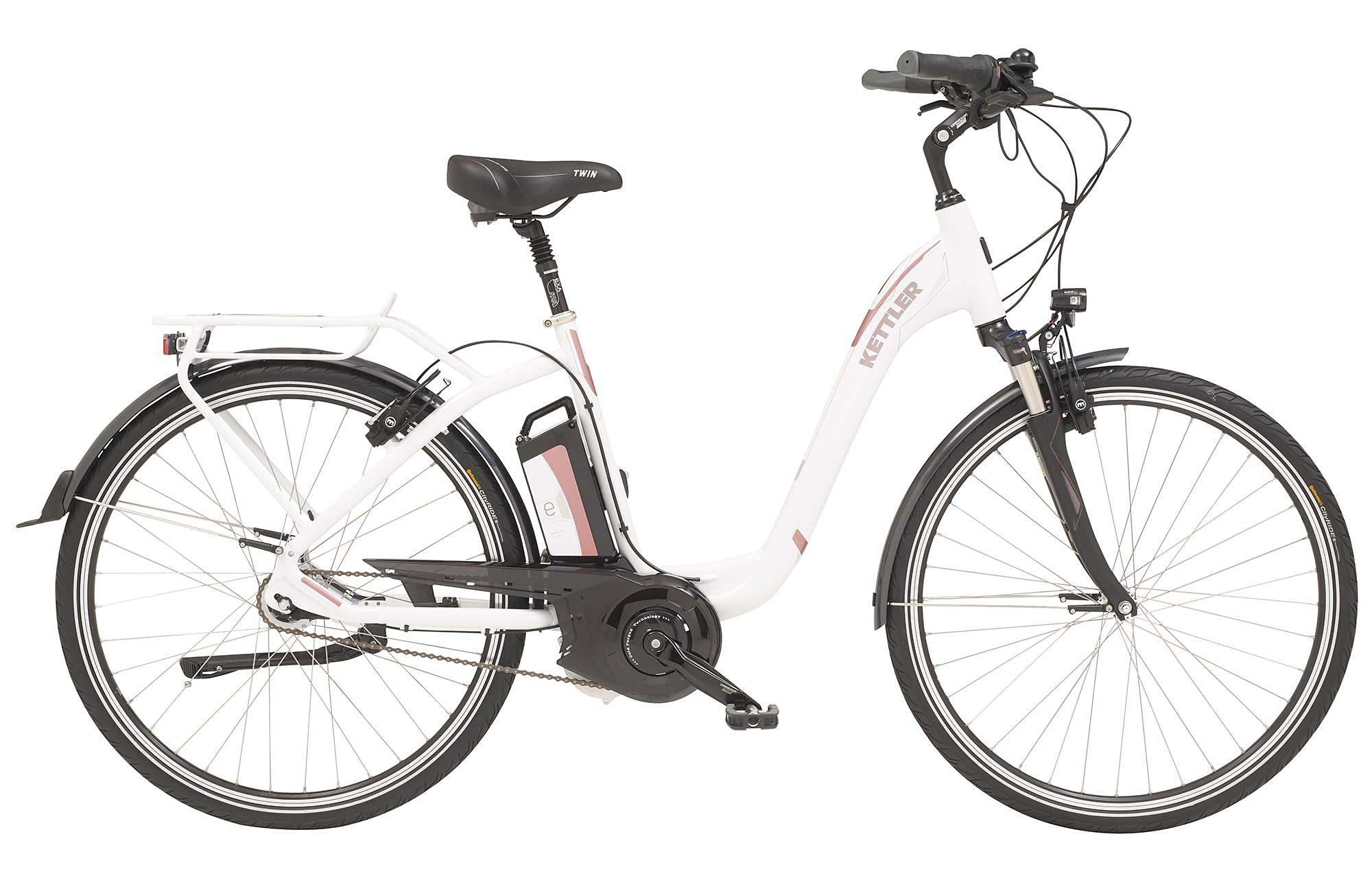 Kettler E-City-Bike, Damen, 28-Zoll, 7 Gang Shimano, Rücktritt, 12 Ah, »Twin«