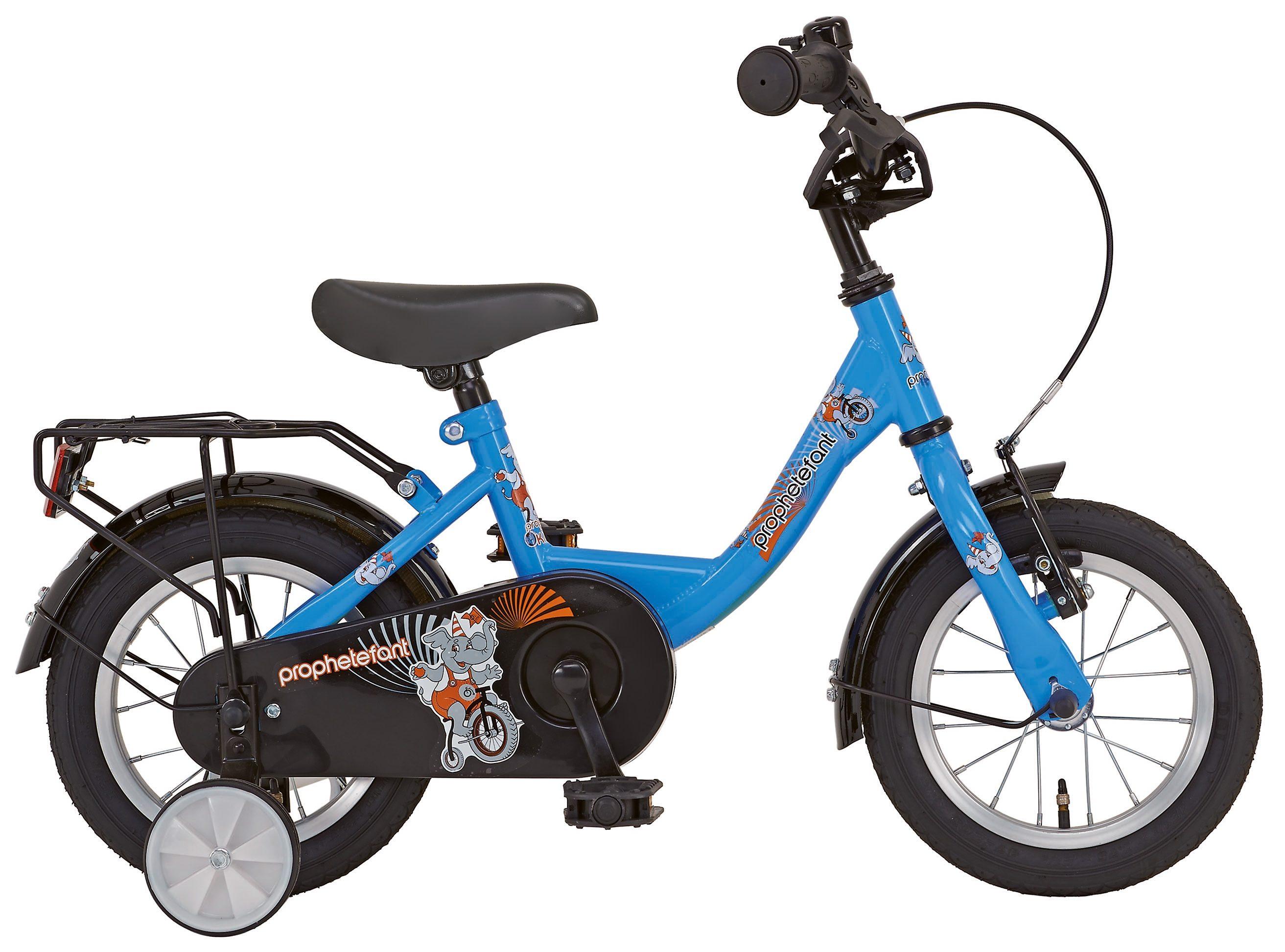 Prophete Kinderrad, 12 Zoll, 1 Gang, Rücktritt, Stützräder, blau, »Einsteiger«