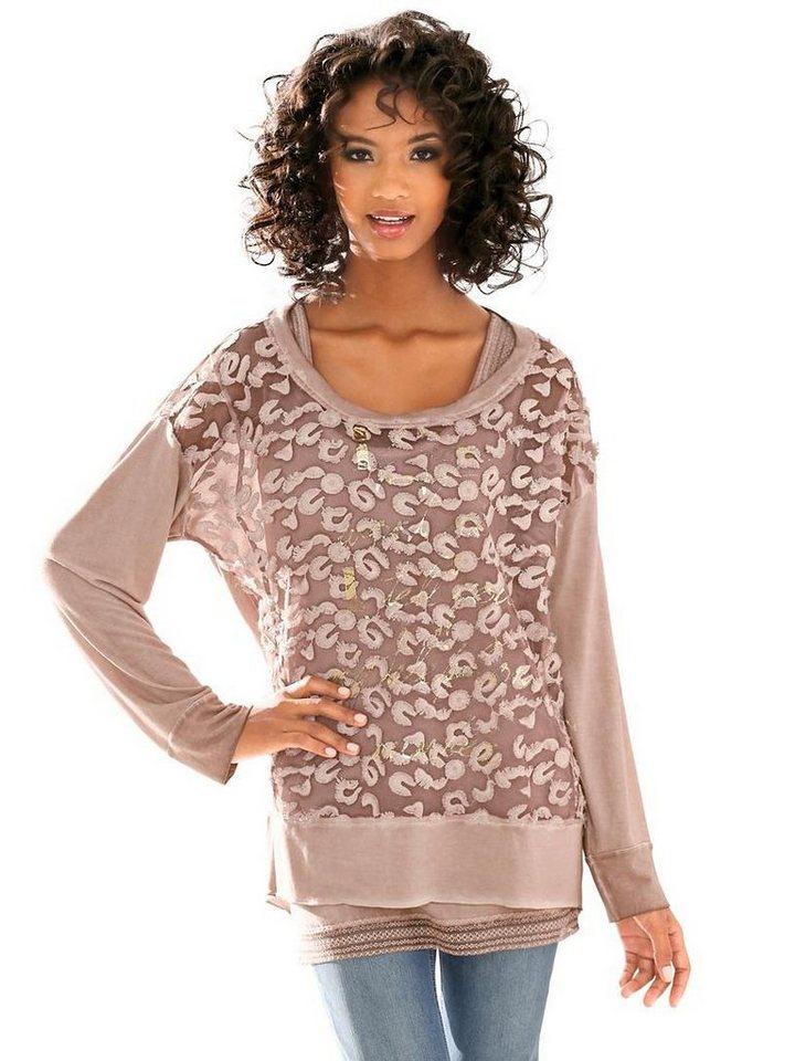 Shirt, 2-teilig in rosé