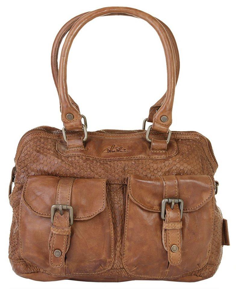 WouWou Leder Damen Handtasche in braun