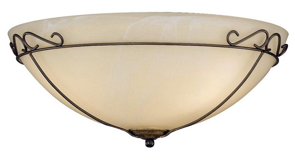 Honsel Leuchten Deckenleuchte, 3flg., »Antik« in Metall, rostfarbig antik