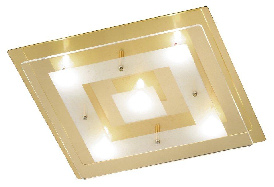 Honsel Leuchten LED-Deckenleuchte, 5flg., »Lamei« in Metall, messing poliert