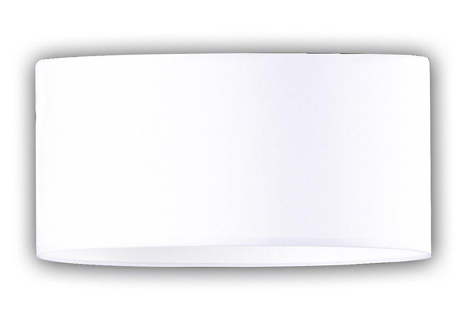 Honsel Leuchten Deckenleuchte, »LOFT« (2flg.) in nickelfarben matt, Schirm weiß