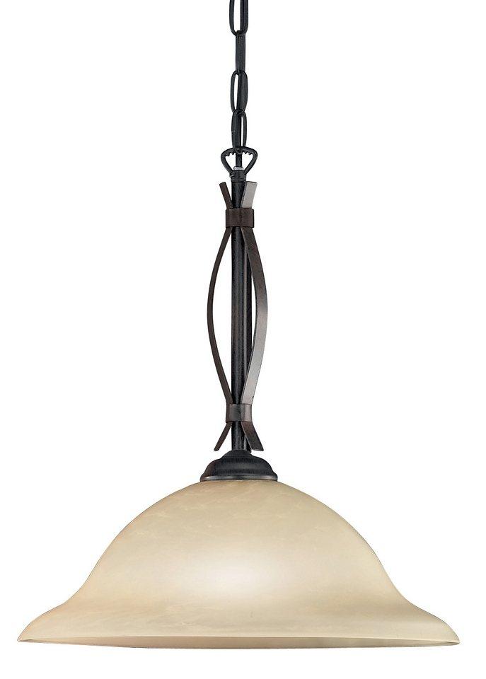 Honsel Leuchten Pendelleuchte, 1flg., »Colonial« in Metall, rostfarbig antik