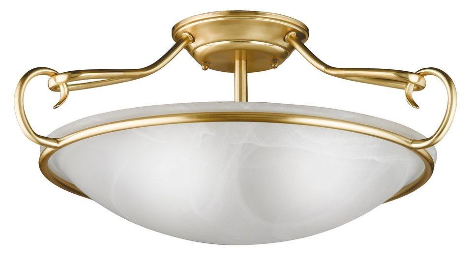 Honsel Leuchten Deckenleuchte, 3flg., »Como« in Metall, mattmessingfarbig
