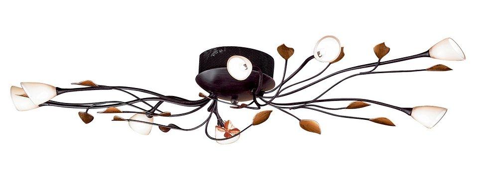 Honsel Leuchten Deckenleuchte, 8flg., »Branca« in Metall, rostfarbig antik