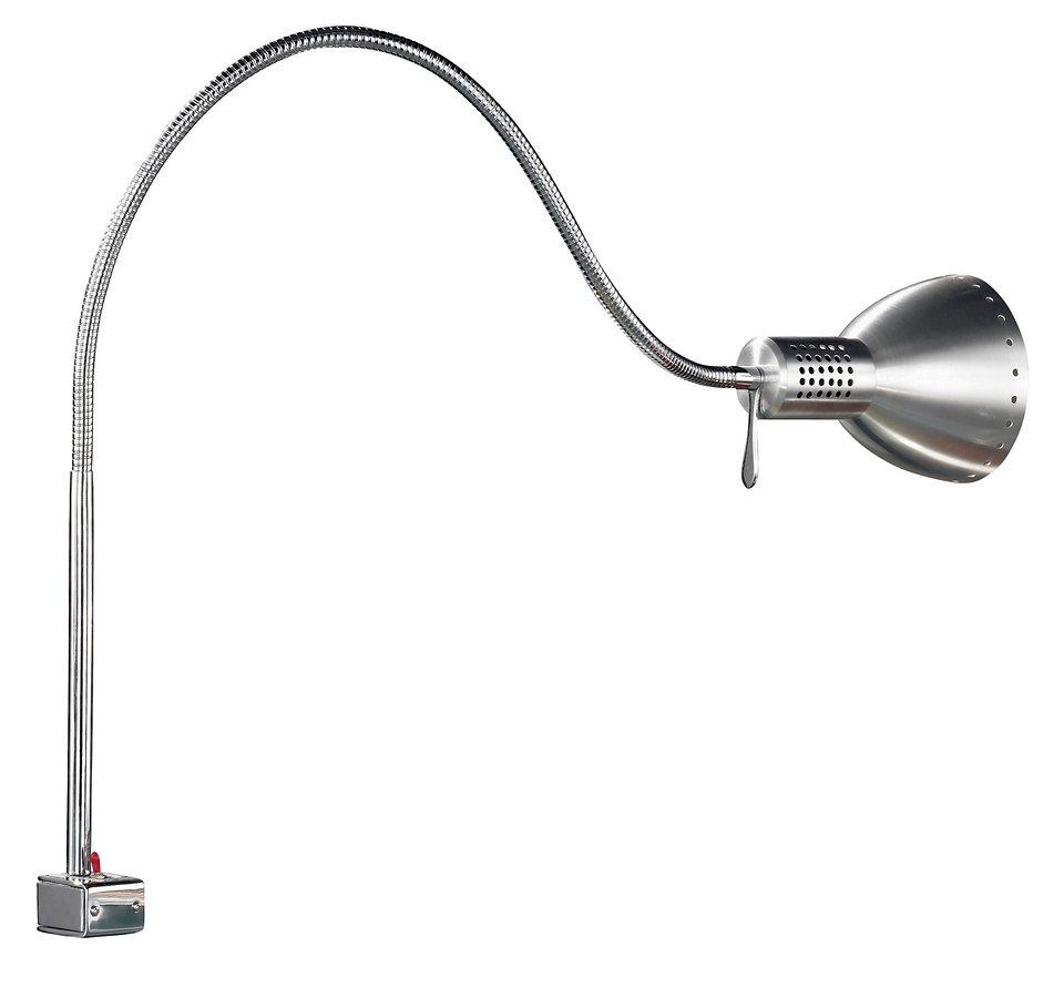 Honsel Leuchten Tischleuchte, 1flg., »Pittsburgh« in Metall, chrom-, aluminiumfarbig
