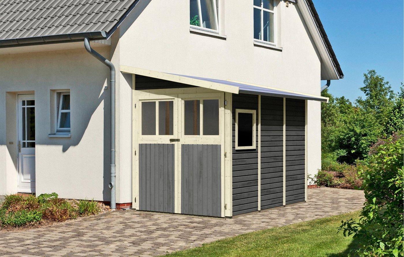 gartenhaus mit aufbau sonstige karibu von otto de. Black Bedroom Furniture Sets. Home Design Ideas