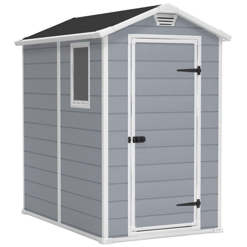 Kunststoffhaus »Manor 6x4«, DUO TECH, BxT: 118x184 cm in grau/weiß