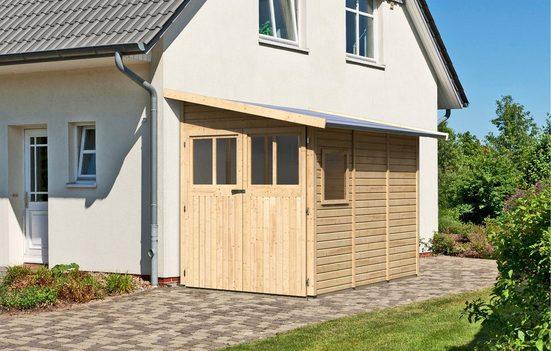 KARIBU Set: Gartenhaus »Wandlitz 3«, BxT: 200x320 cm, inkl. Doppelflügeltüren vorn und hinten