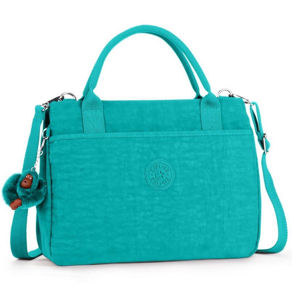 Kipling Basic Caralisa Handtasche 34 cm in cool turquoise