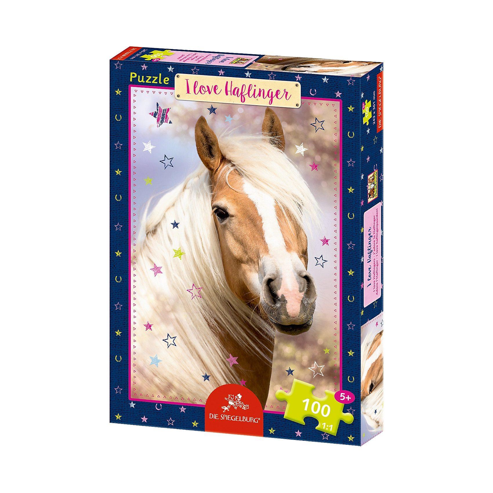 Spiegelburg Boxpuzzle I love Haflinger Pferdefreunde (100 Teile)