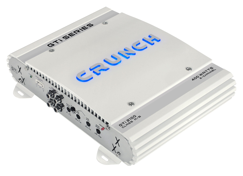 Crunch Zweikanal-Verstärker zum Einbau in Kfz »GTI2100, 2 x 200 Watt MAX an 2 Ohm« ein Stück