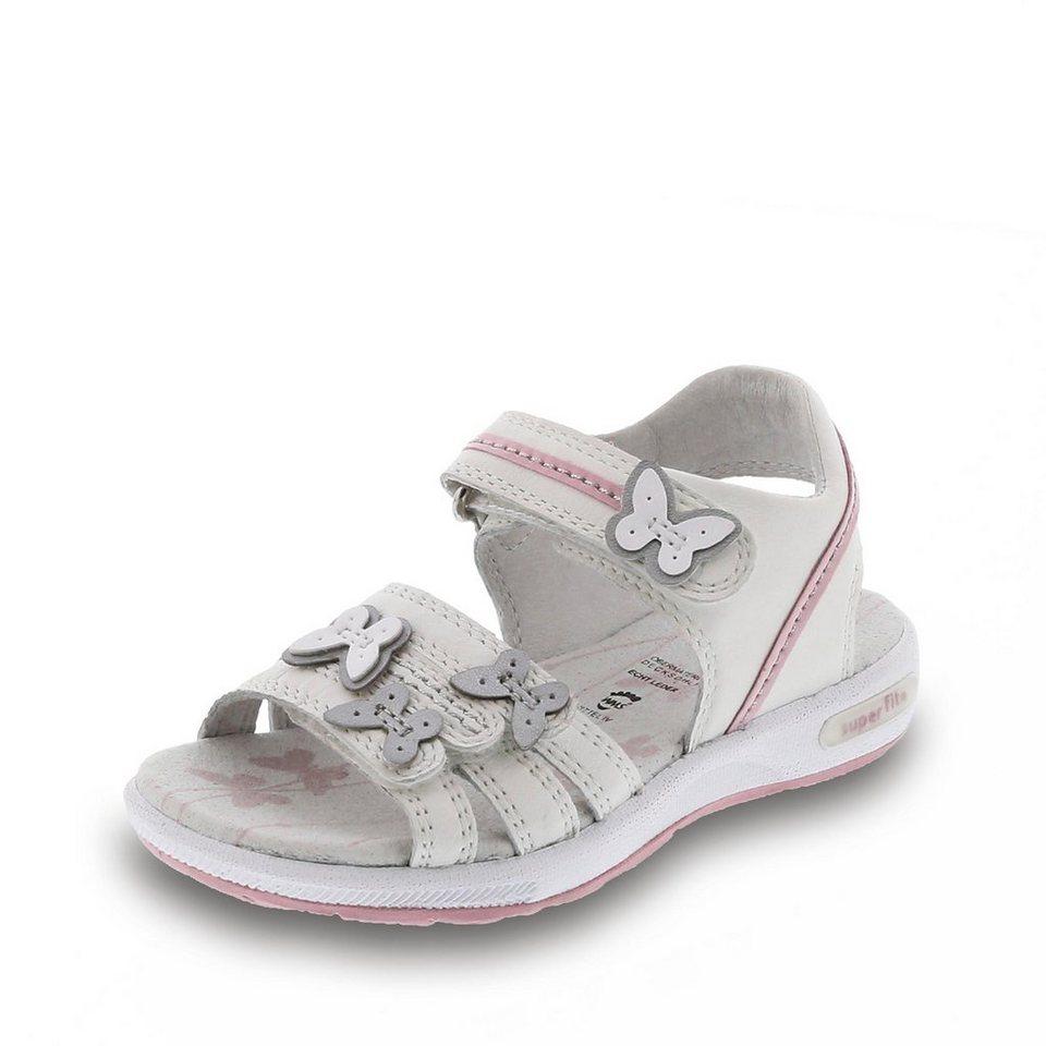 Superfit Sandale in weiß/rosa