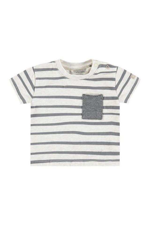 BELLYBUTTON Babyshirt mit Tasche, gestreift in allover/multicolored