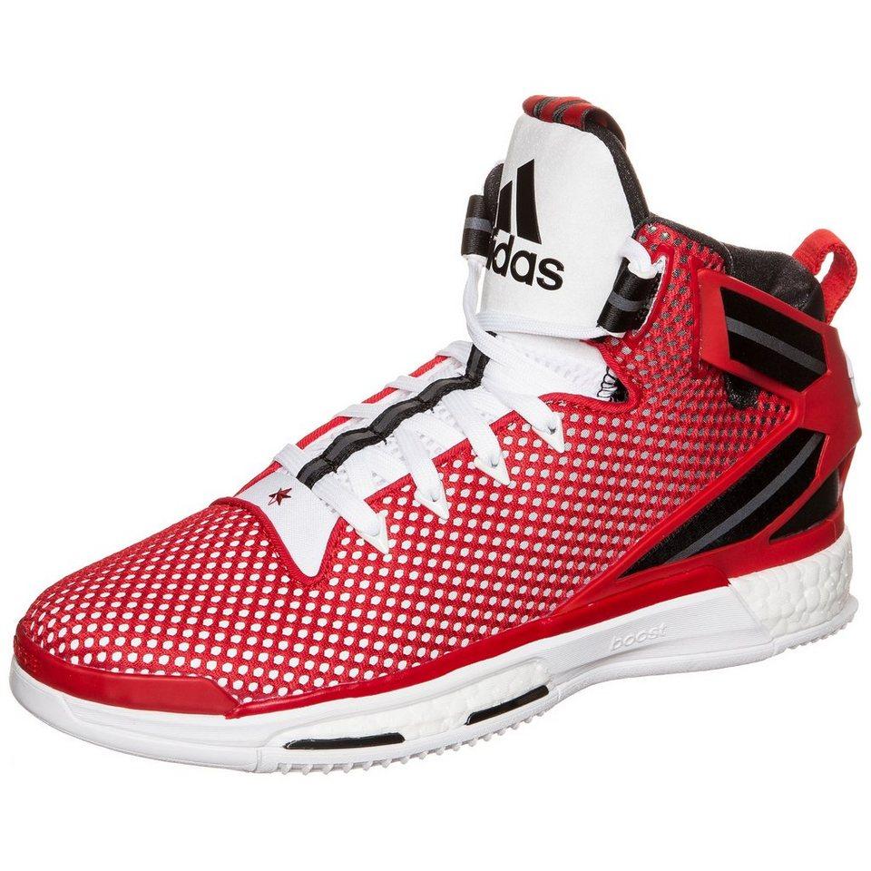 adidas Performance Derrick Rose 6 Boost Basketballschuh Herren in rot / weiß / schwarz