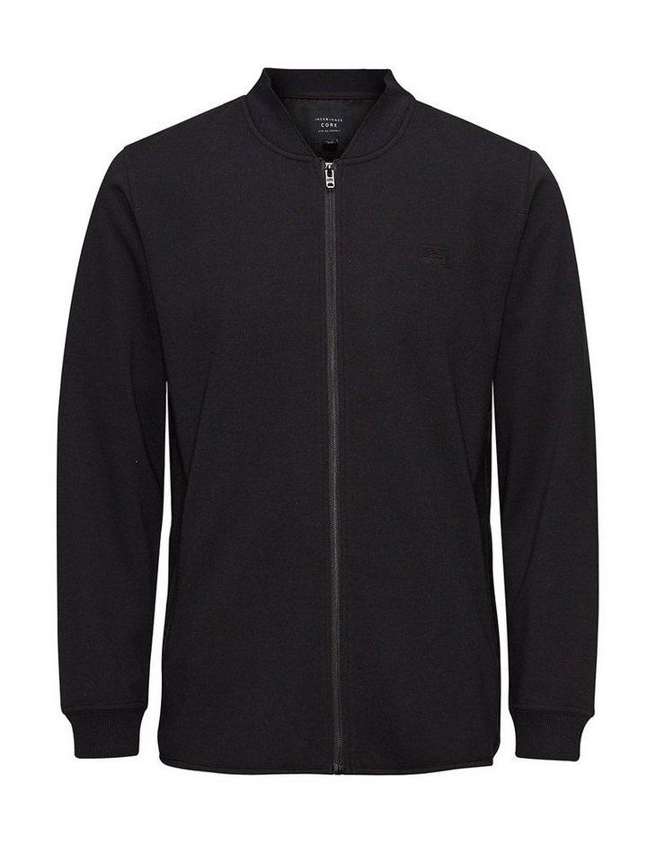 Jack & Jones Baseball-Stil Sweatshirt in Black