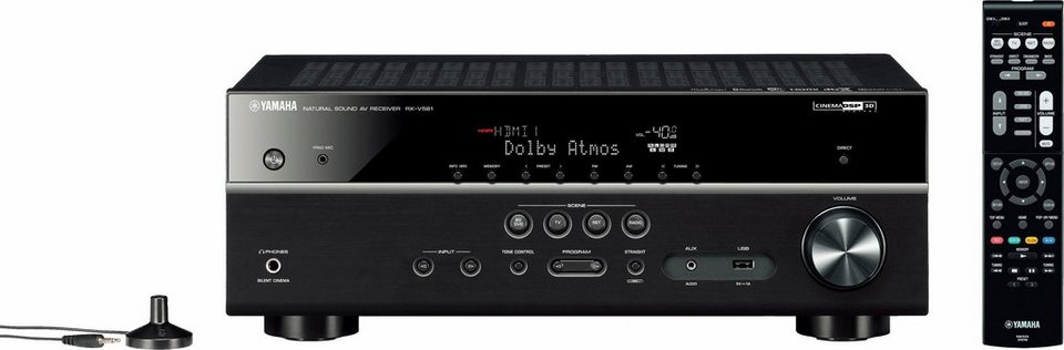 Yamaha RX-V581 7.2 AV-Receiver (Hi-Res, Spotify Connect, Airplay, WLAN, Bluetooth) in schwarz
