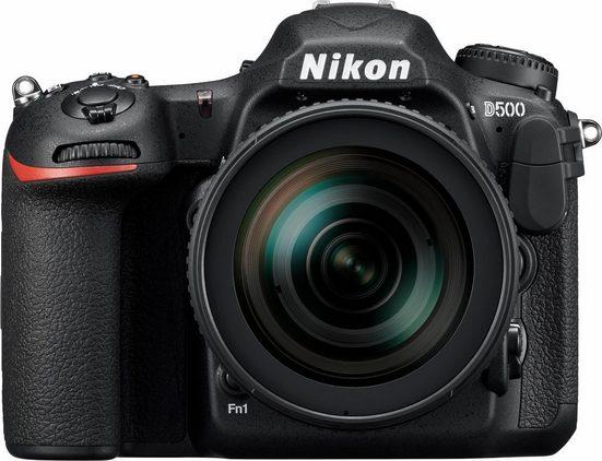 Nikon »D500« Spiegelreflexkamera (AF-S DX NIKKOR 16-80 mm 1:2,8-4E ED VR, 20,9 MP, WLAN (Wi-Fi), NFC, Videoaufnahmen in 4K 2160p)