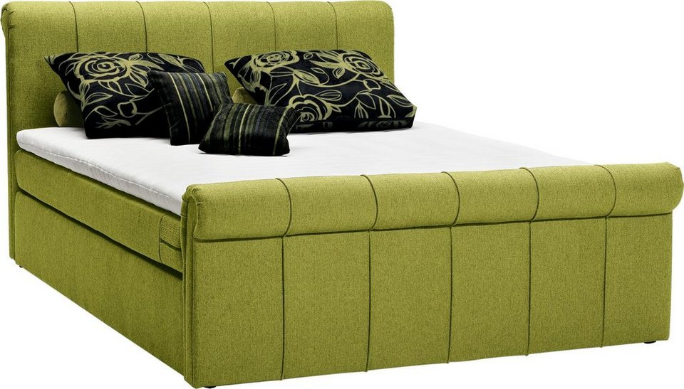 set one by musterring boxspringbett buffalo inklusive topper in drei breiten und 6 farben. Black Bedroom Furniture Sets. Home Design Ideas