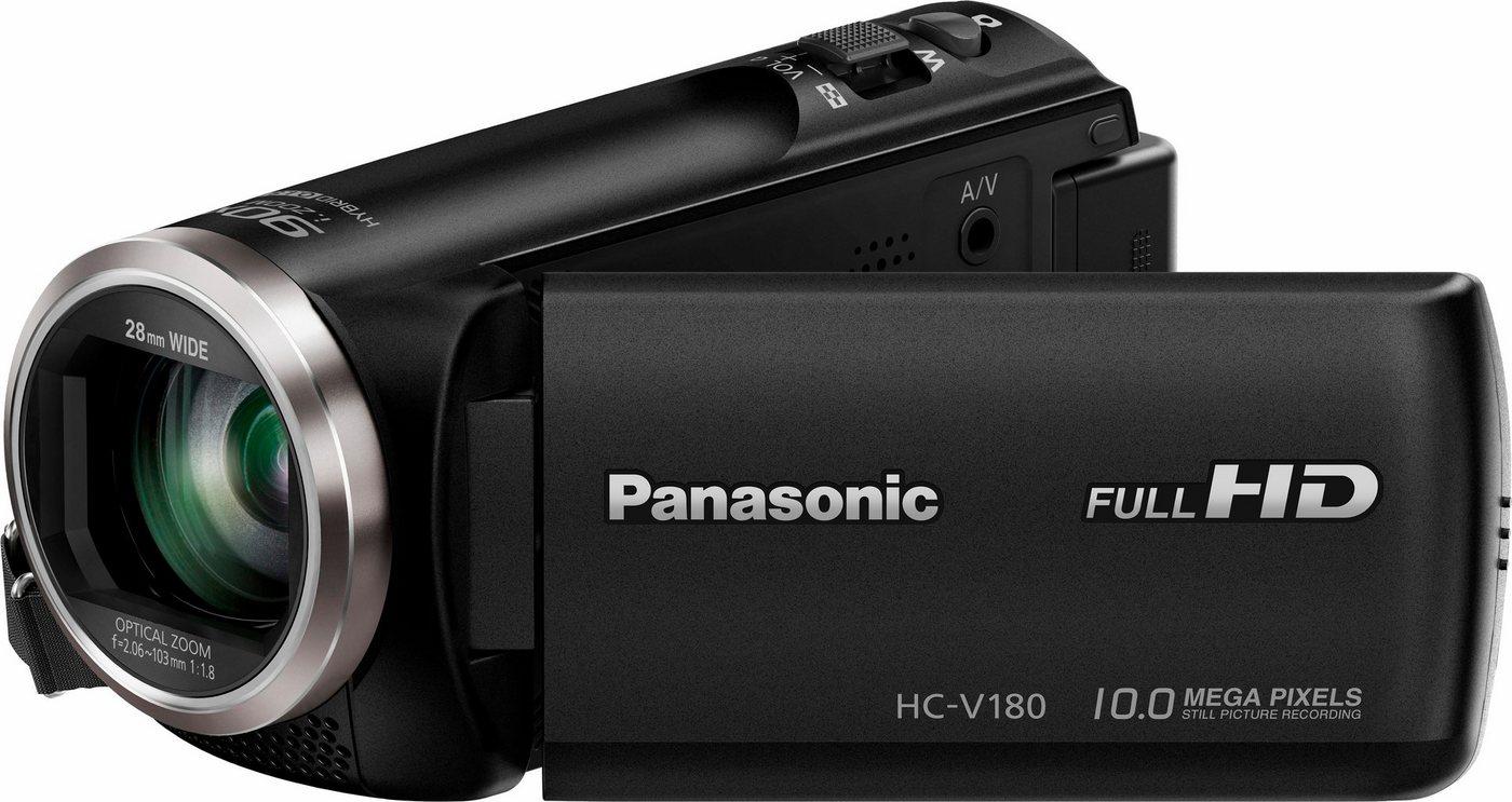 Camcorder - Panasonic »HC V180EG K« Camcorder (Full HD, 50x opt. Zoom, Bildstabilisator)  - Onlineshop OTTO