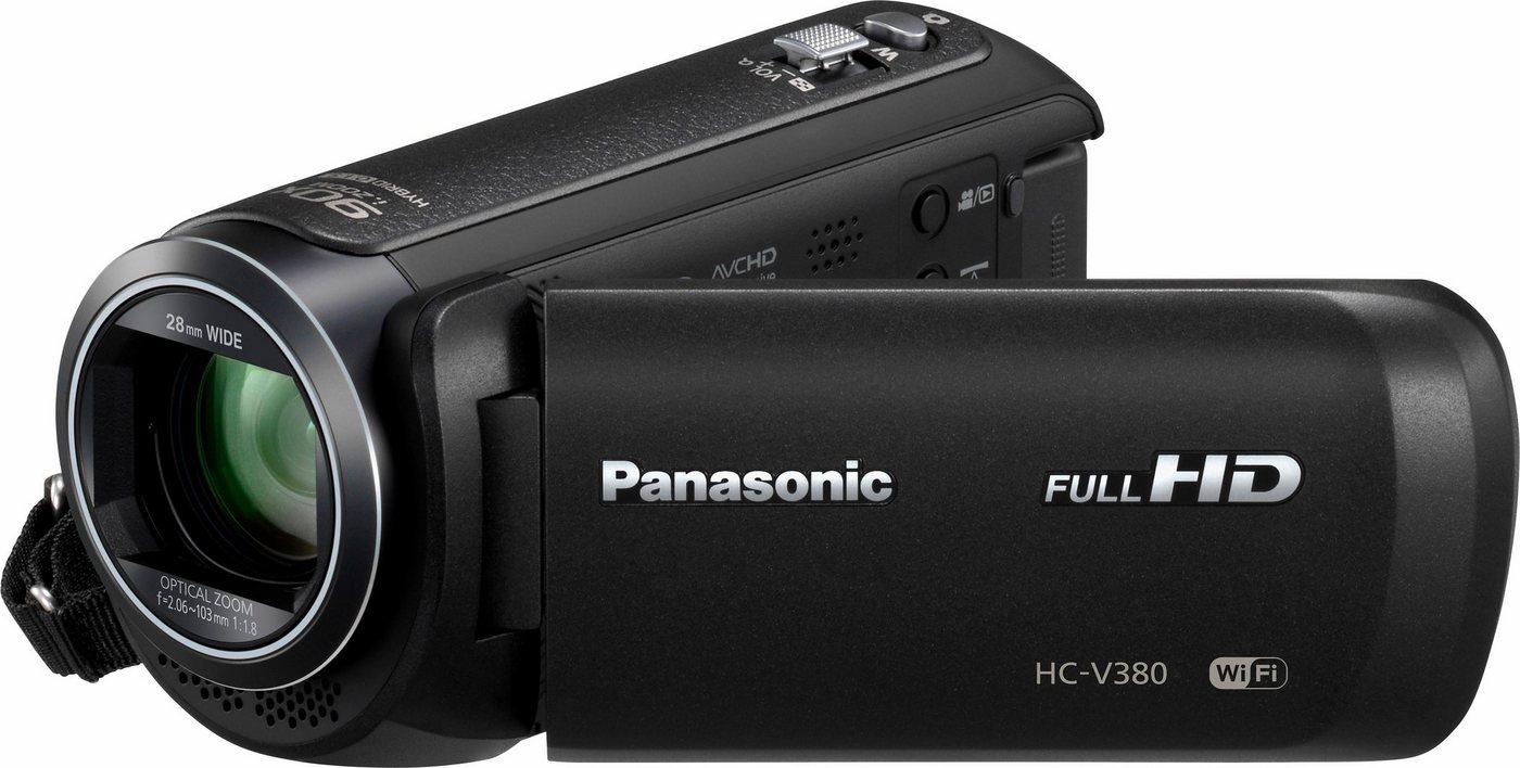 Camcorder - Panasonic »HC V380EG K« Camcorder (Full HD, WLAN (Wi Fi), 50x opt. Zoom, Bildstabilisator)  - Onlineshop OTTO