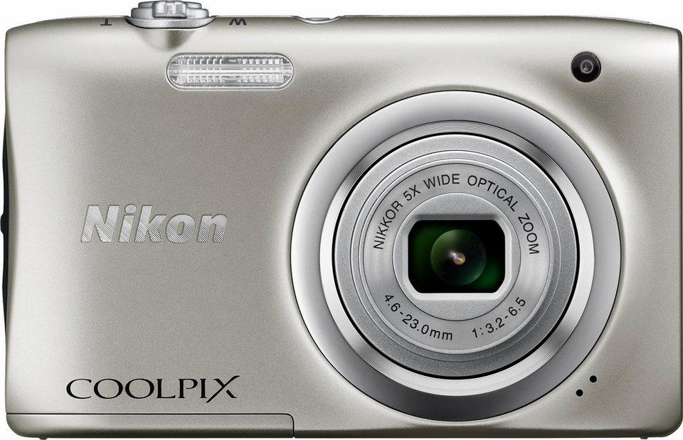 Nikon Coolpix A100 Kompakt Kamera inkl. 10€ CEWE Fotogutschein, 20,1 MP in silberfarben