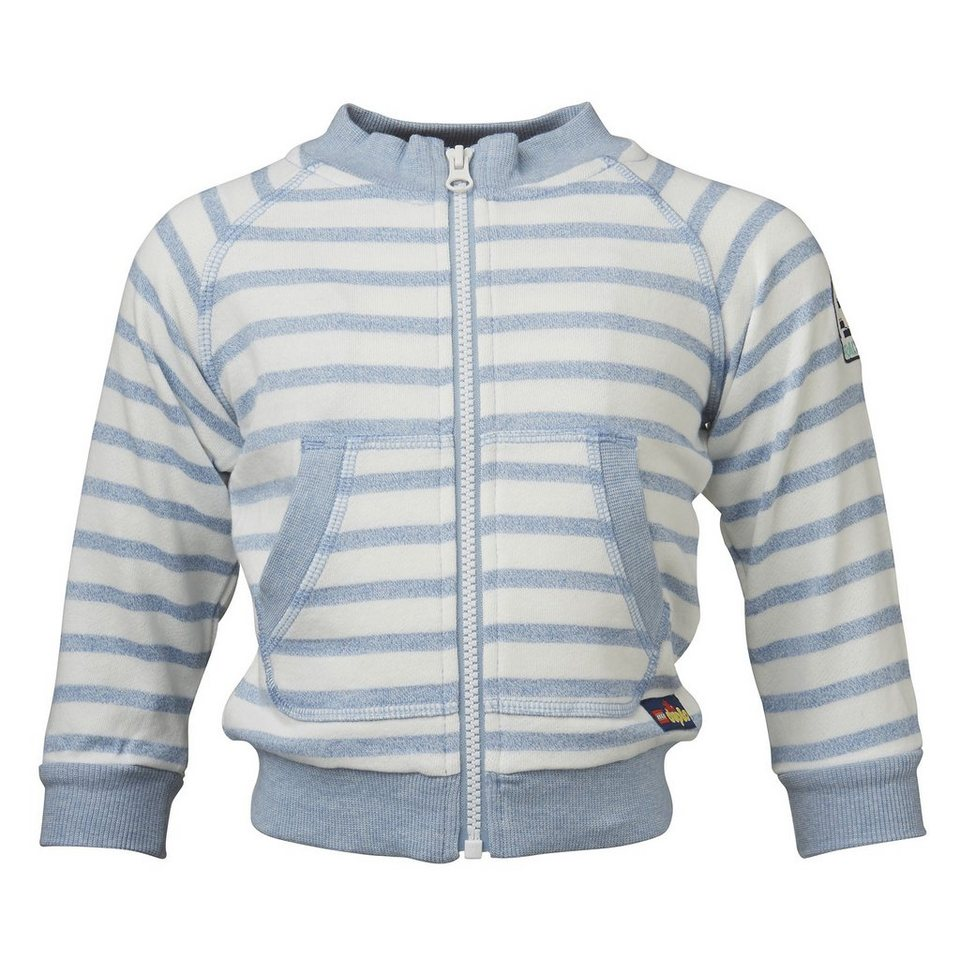 "LEGO Wear Duplo Sweat-Cardigan Shay Sweatjacke ""Streifen"" in hellblau"