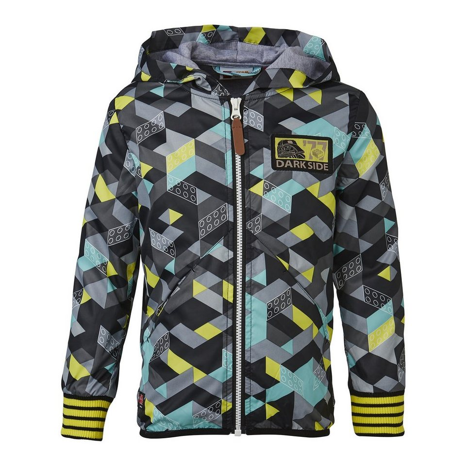 "LEGO Wear STAR WARS(TM) Kapuzen-Polyester-Jacke Skeet ""All Over"" Hoodie Ca in türkis"