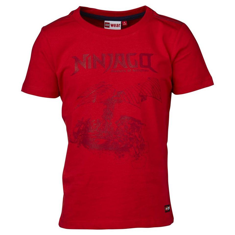 "LEGO Wear Ninjago T-Shirt Tony ""Ninja"" kurzarm Shirt in rot"