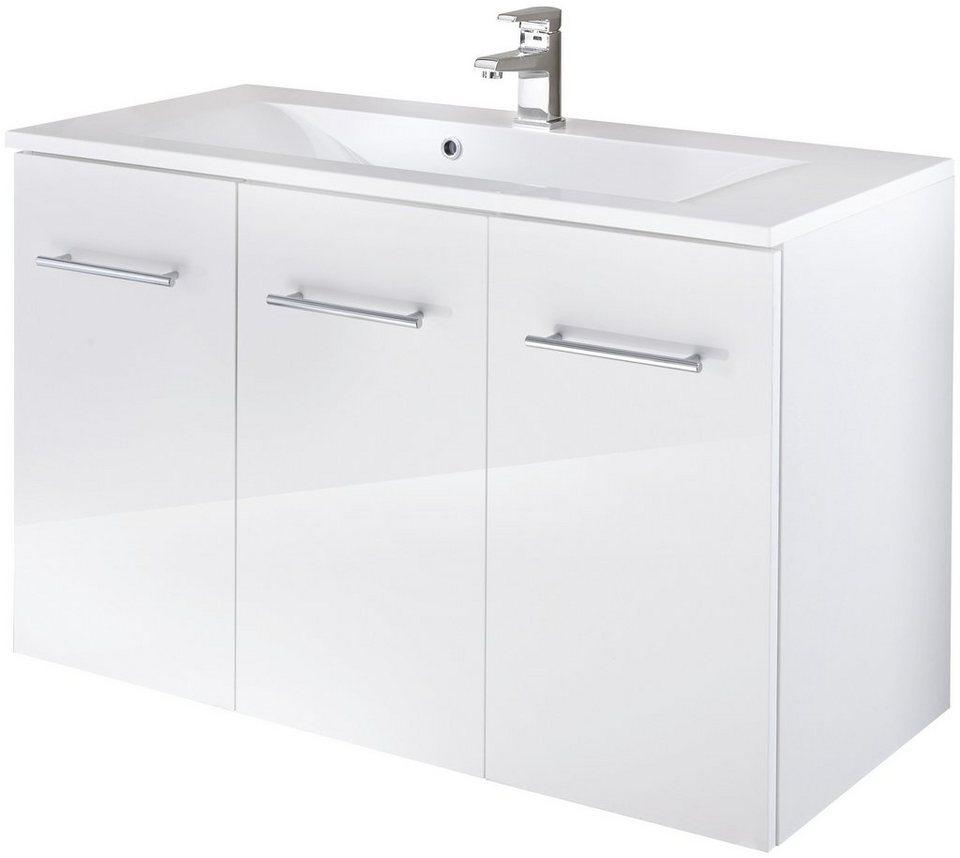 Waschtisch »Lugo«, Breite 100 cm, (2-tlg.) in weiß