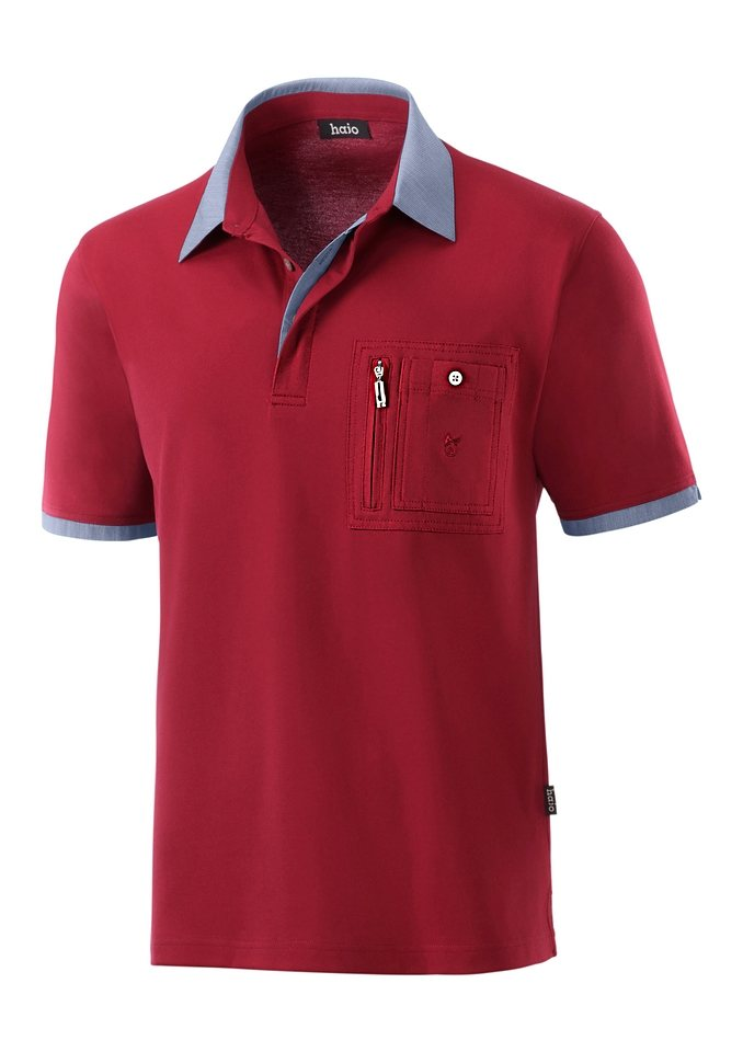 Hajo Shirt in innovativer »stay-fresh« Qualität in rot