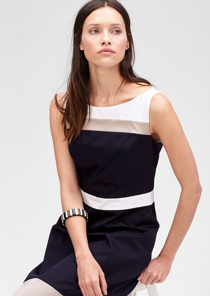 s.Oliver PREMIUM Kleid im Colorblocking-Design in india ink