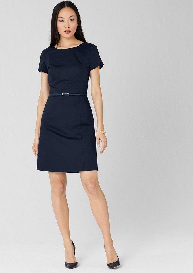 s.oliver black label kleid mit gürtel aus baumwollsatin