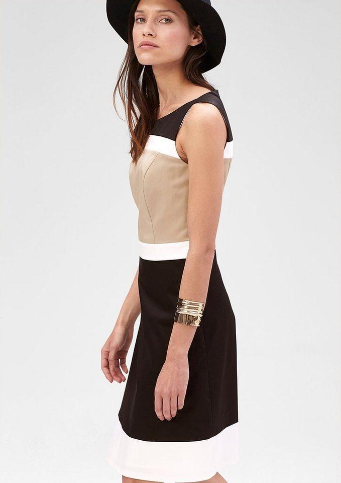 s.Oliver PREMIUM Kleid im Colorblocking-Design in black