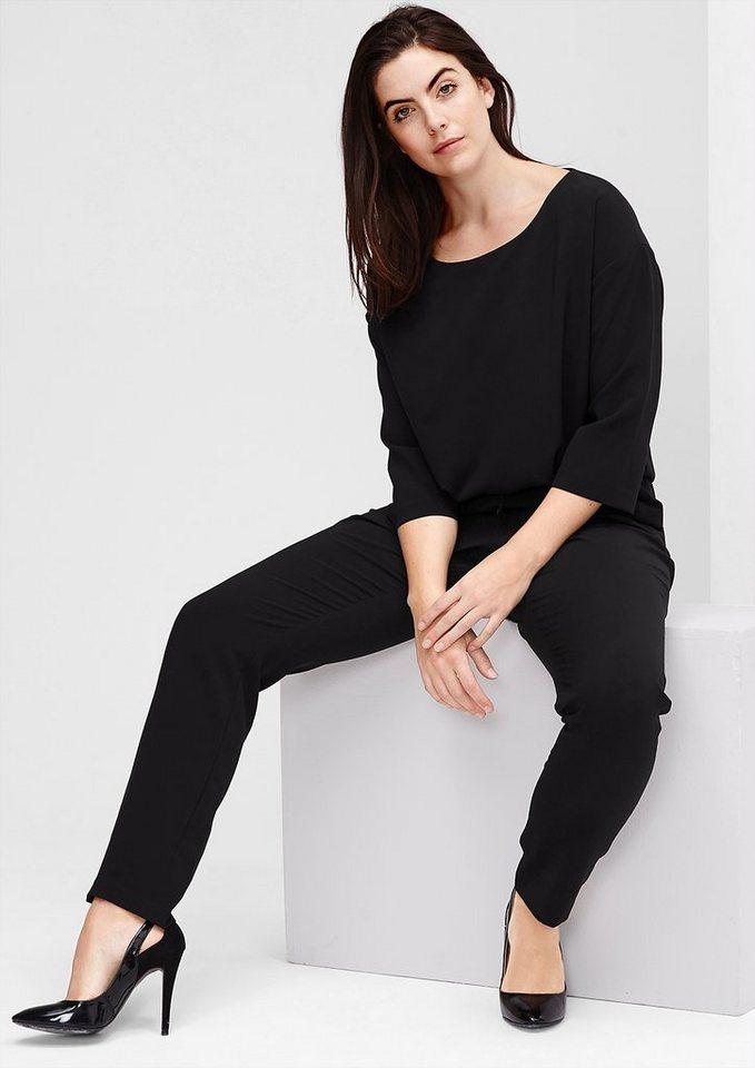 TRIANGLE Klassisch eleganter Overall in black