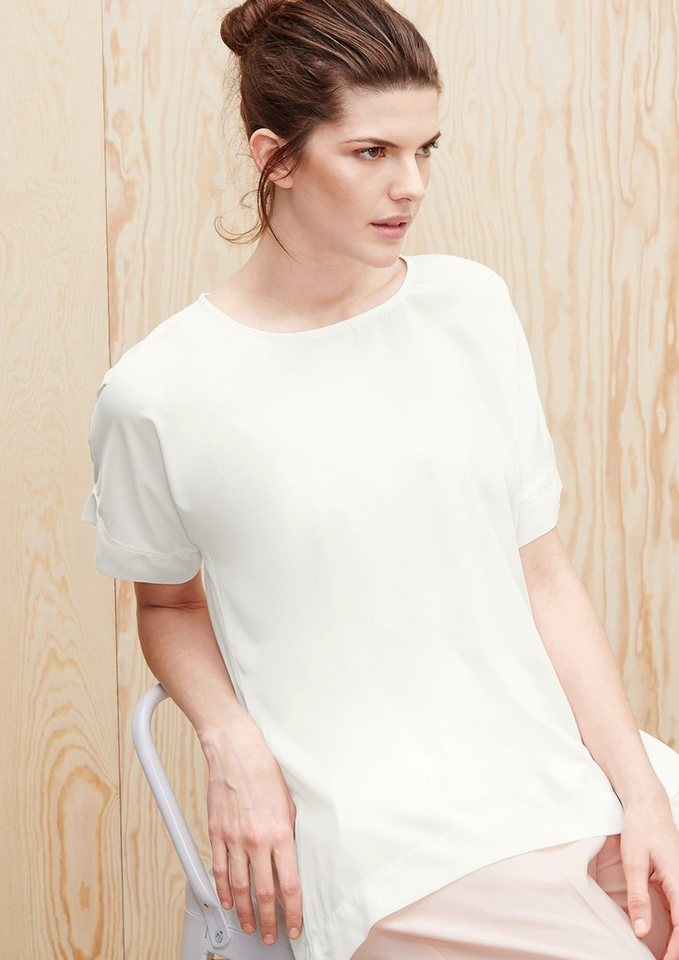 TRIANGLE Shirt mit Crèpe-Front in light cream