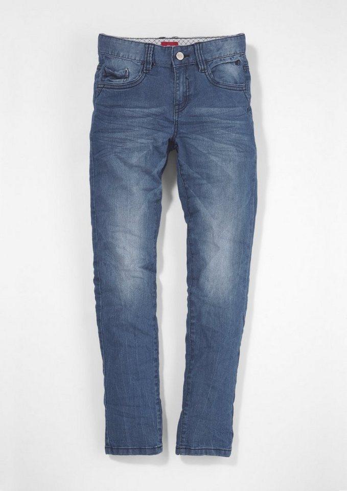 s.Oliver RED LABEL Junior Skinny Seattle: Stretch-Jeans für Jungen in blue denim stretch