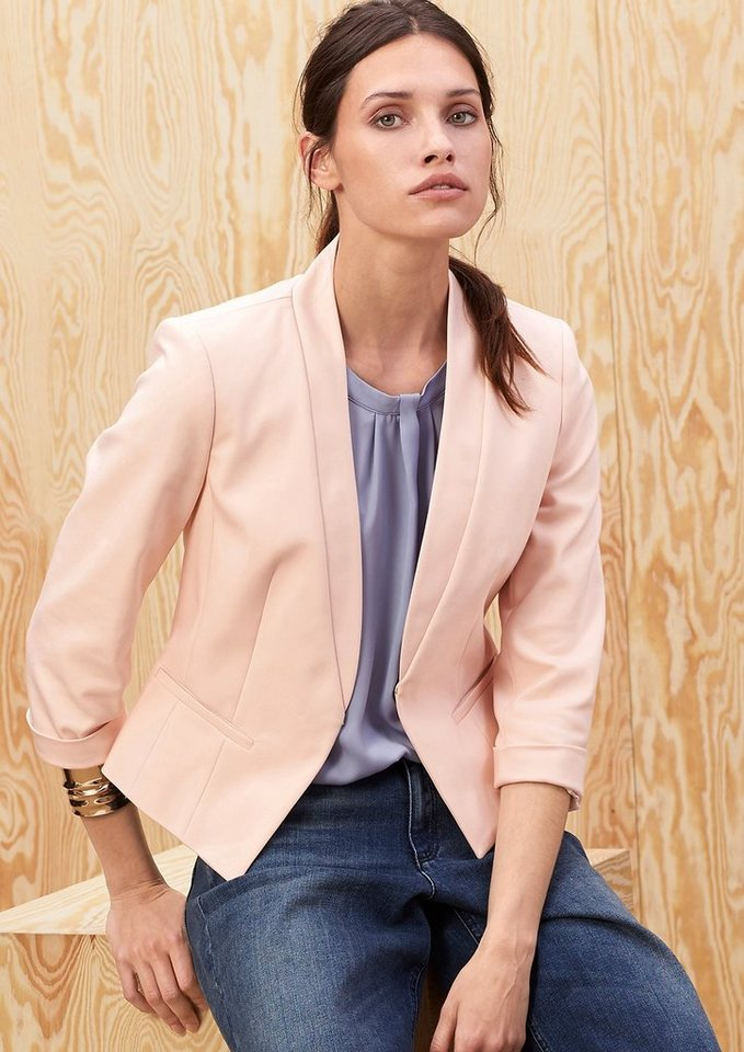 s.Oliver PREMIUM Modischer Stretch-Blazer in ice peach